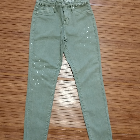 Mossimo Supply Co. Denim - Green cropped jeans